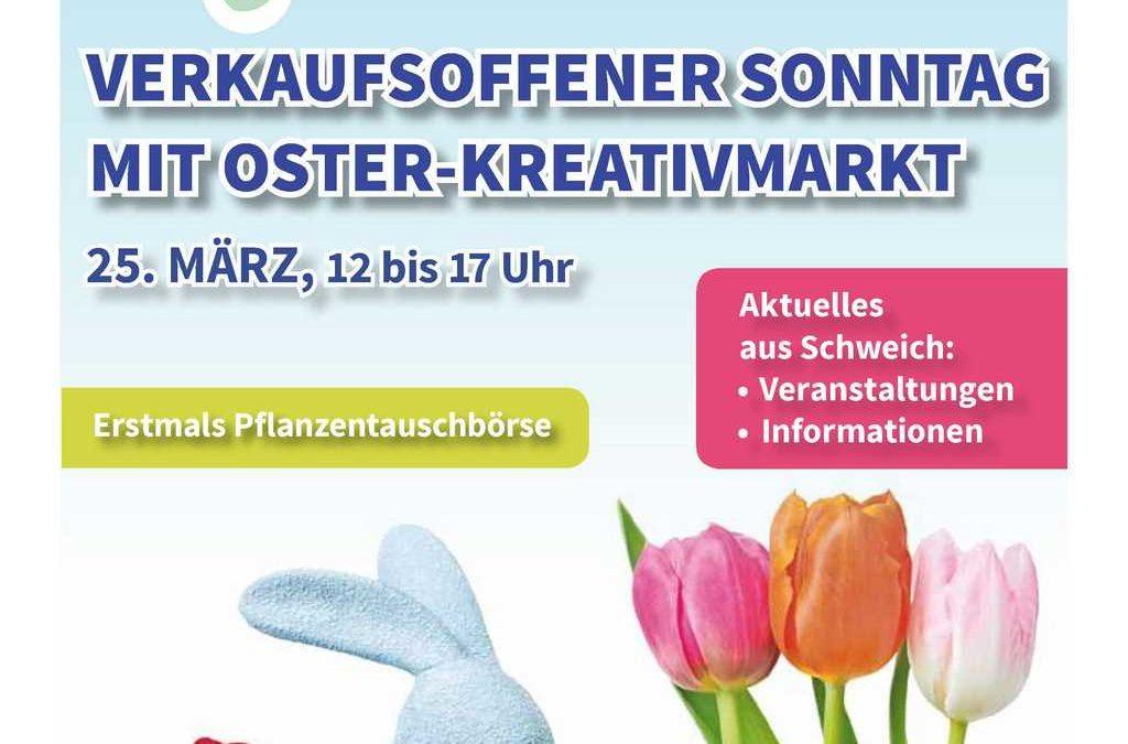 Sonderdruck zum verkaufsoffenen Sonntag mit Oster-Kreativmarkt am 25. März